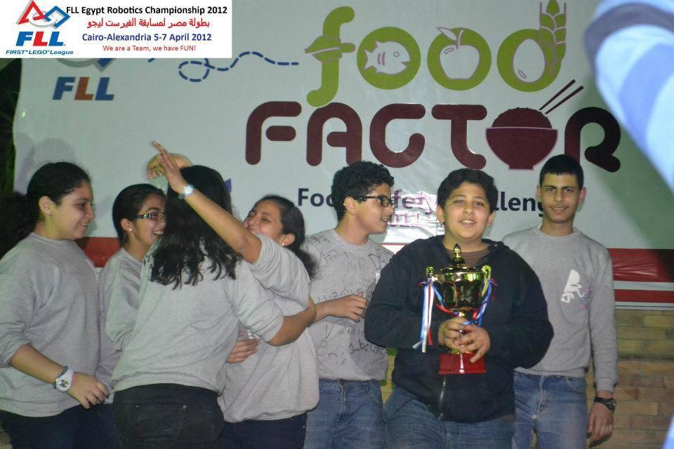Black Horse Team - Team Spirit Award in FLL Food Factor 2011